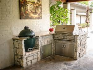 Outdoor Island Kitchen built in charcoal grill patio traditional with barbecue