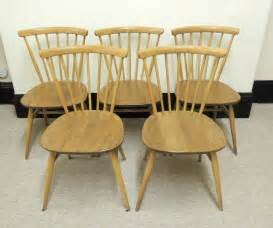 Vintage Ercol Dining Chairs Antiques Atlas Retro Ercol Set Of 5 Dining Chairs