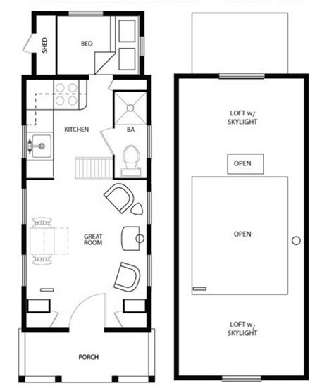 best design for tiny houses floor plans on wheels or