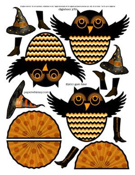 printable halloween owl paperwhimsy collage images print or pdf holidays