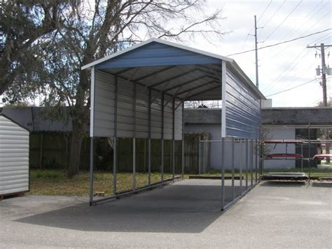 Cost Of Car Port by Single Car Carport Buy Now Get Quote 12 21 Vertical Roof