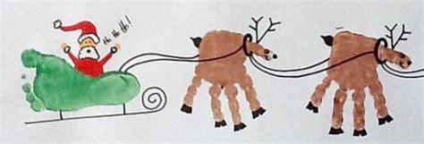 santa on the sleigh kids crafts handprint footprint crafts keepsakes obqvite