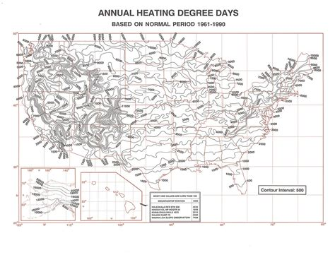 day map heating degree day