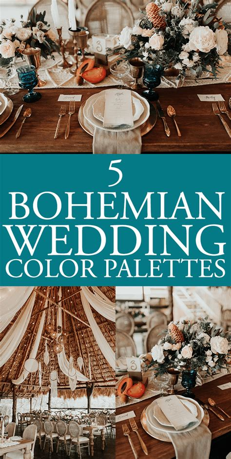 boho colors bohemian wedding color palettes that really set the tone