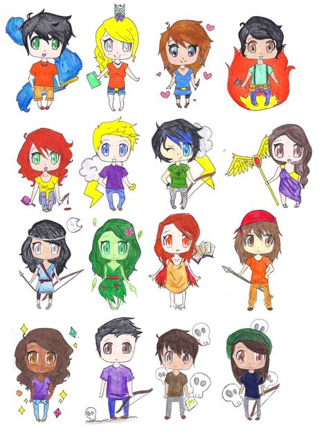 percy jackson fan art percy jackson fan art percy jackson chibis by ara bell