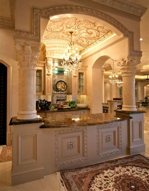 beautiful kitchen design home designs pinterest beautiful kitchen bar with barrel ceiling inside the