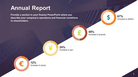 Free Annual Report Powerpoint Slide Slidestore Annual Report Powerpoint Template