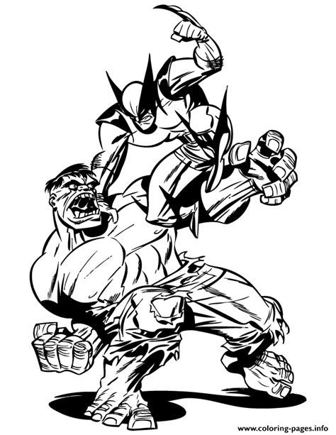 hulk coloring pages pdf incredible hulk fighting with wolverine coloring pages
