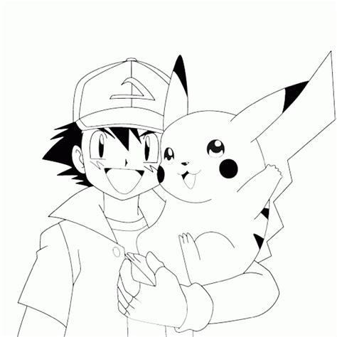 Pokemon Coloring Pokemon Picture Ash Ketchum Pikachu Ash And Pikachu Coloring Pages
