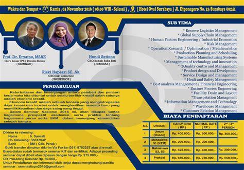 belajar membuat business plan seminar workshop nasional teknik industri upn peranan