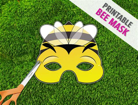 bee mask printable mask photo prop bug mask by therasilisk