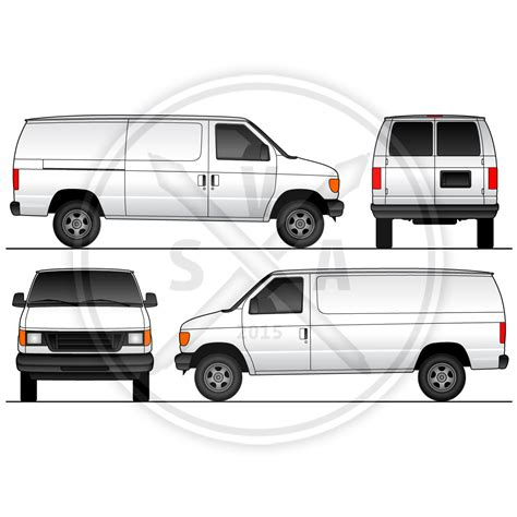 vehicle vector templates cargo sliding doors wrap template stock vector