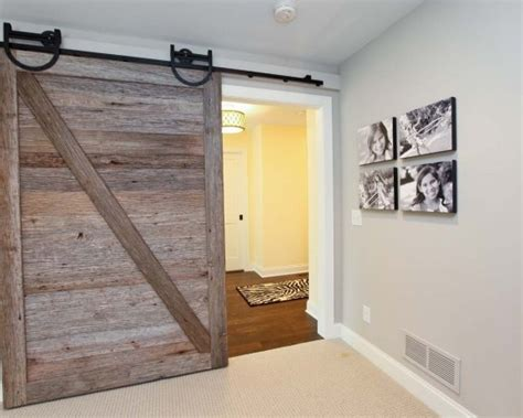 rustic barn door track sliding barn door with rustic iron track for the home