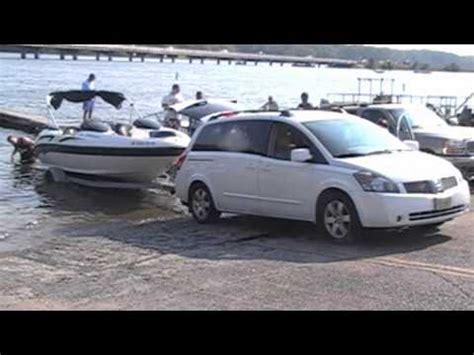 minivan boat retrieving 20ft boat wih a minivan youtube