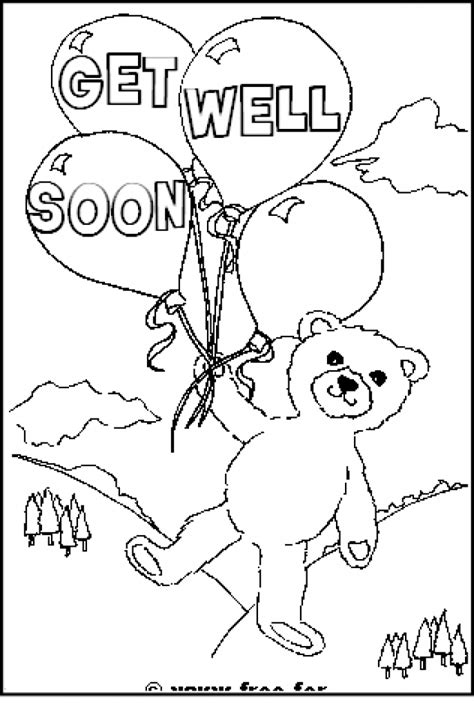 funny get well soon coloring pages get well coloring pages coloring home