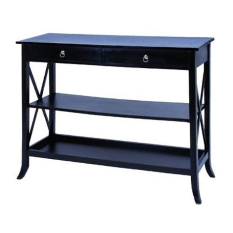 Black Sofa Table With Drawers by Black Sofa Table With Drawers The Interior Design