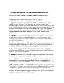 Appreciation Letter Employee India employee recognition programs in indian companieshere are the various