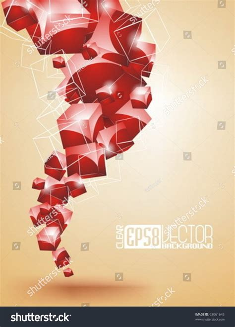 abstract vector background with shiny cubes 63061645
