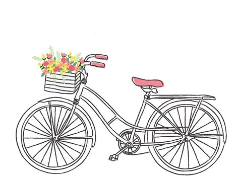 bike clip bicycle clipart pencil and in color bicycle