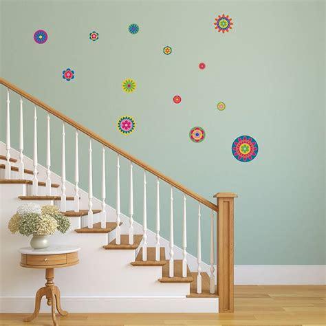 notonthehighstreet wall stickers bright flower pattern wall stickers by mirrorin notonthehighstreet