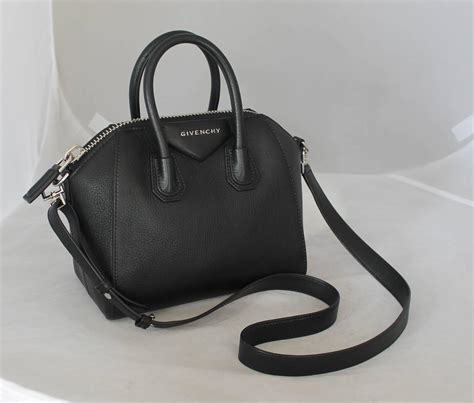 givenchy black leather mini antigona top handle crossbody
