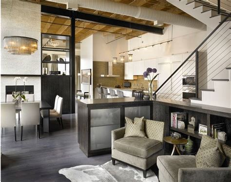 Living Room Chicago by Chicago Loft Kitchen Creates Beautiful Continuum With Its