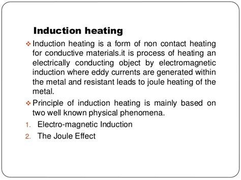 induction heating principle induction furnace