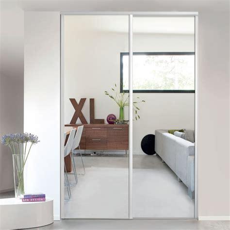 1 porte de placard coulissante miroir 62 2 x 245 6 cm