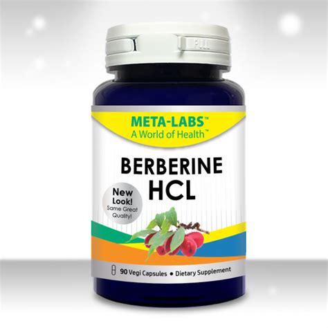 Berberine Used As A Detox by Berberine Hcl 90 Capsules Meta Labs