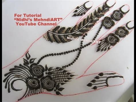 henna tattoo tutorial youtube beautiful floral feather henna mehndi design