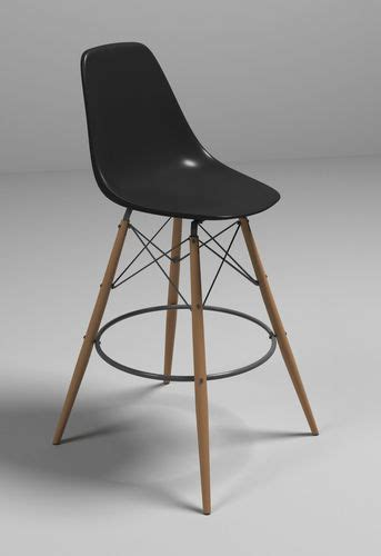 Eames Bistro Table Eames Bar Chair 3d Model Max Obj 3ds Fbx Cgtrader