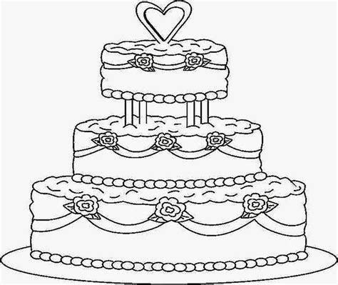 Cake Coloring Page Coloring Home