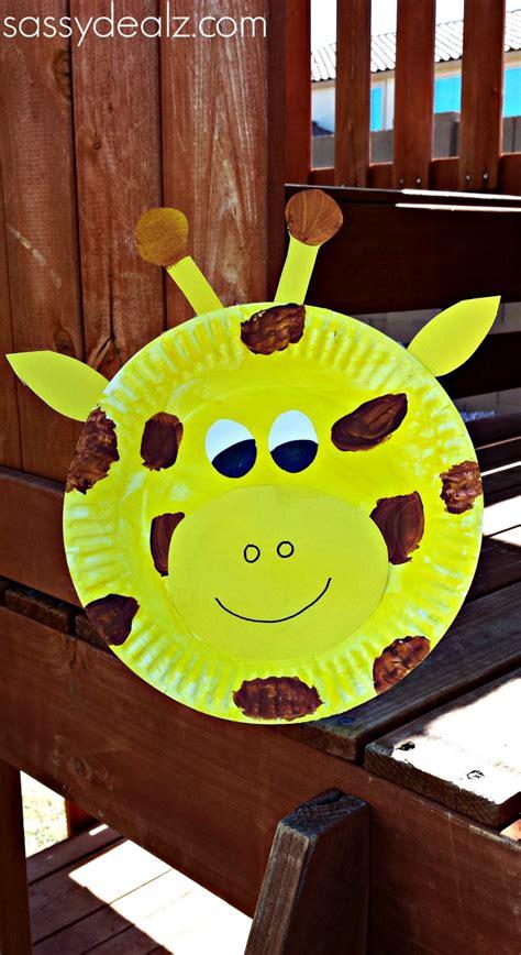 Giraffe Paper Plate Craft - paper plate giraffe craft for crafty morning