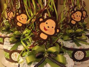 baby monkey centerpieces monkey baby shower diapers centerpiece with by designsbyemilys
