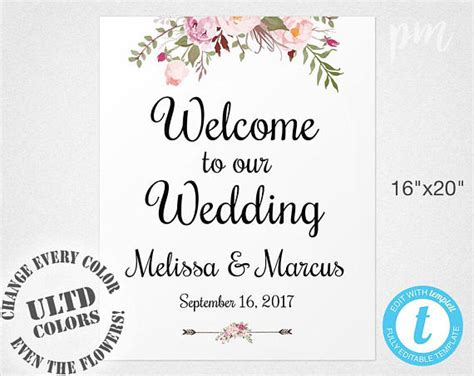wedding sign templates free welcome wedding sign template wedding welcome sign welcome