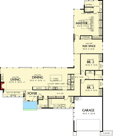 modern ranch floor plans plan 69401am low california ranch ranch photo