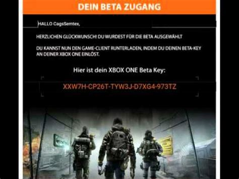 Xbox One Game Code Giveaway - full download the division beta keys giveaway