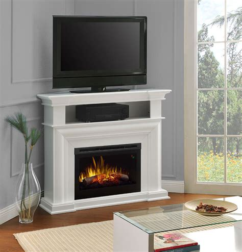 white electric fireplace media console colleen wall or corner electric fireplace media console in white dfp25l5 1537w