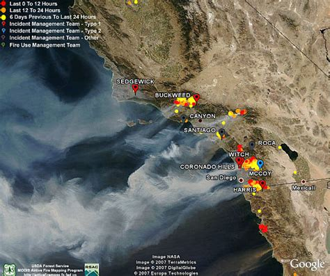fires in california map california fires satellite photos data in earth earth