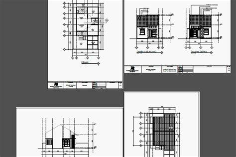 gambar rumah format dwg gambar kerja desain ruko dan rumah contoh gambar kerja