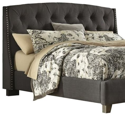 hillsdale tufted grey velvet headboard full queen ashley furniture ashley kasidon fabric upholstered queen