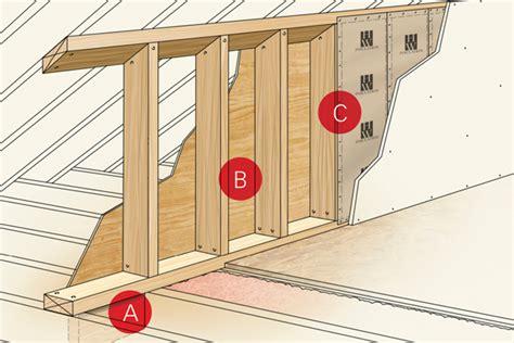 attic knee wall framing build it right building comfort in bonus rooms prosales