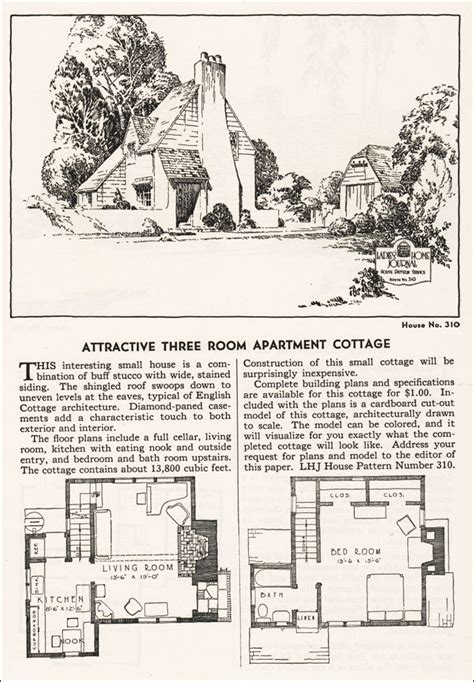 eclectic english cottage ladies home journal