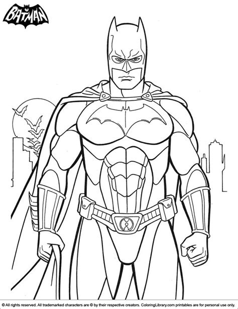 batman coloring picture