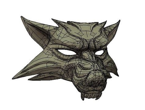 Papercraft Wolf Mask - the witcher papercraftsquare free papercraft