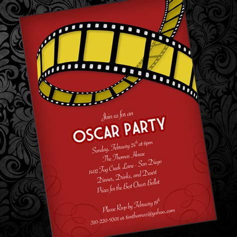 oscar party invitation template download print