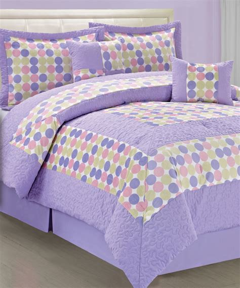Purple And Green Bedding Sets Purple Green Big Dot Comforter Set Contemporary Comforters And Comforter Sets
