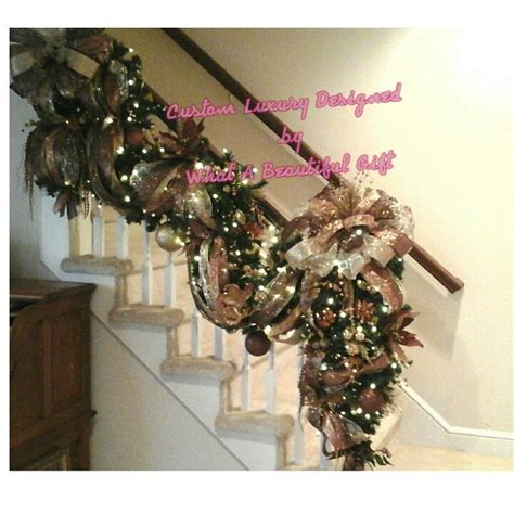lighted garland for staircase 17 best ideas about christmas staircase on pinterest