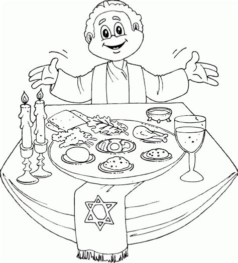 Passover Coloring Pages passover dinner coloring page coloring