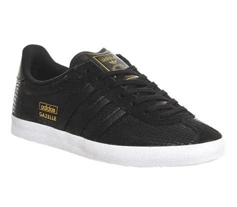 adidas gazelle black adidas gazelle og w core black snake print trainers shoes